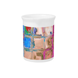 Colorful glass blocks texture pitcher