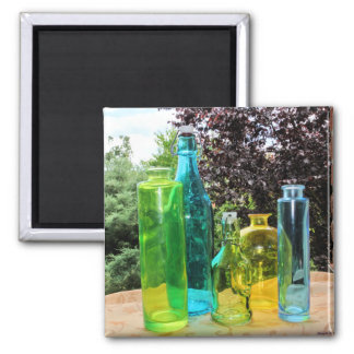 Colorful Glass Bottles Magnet