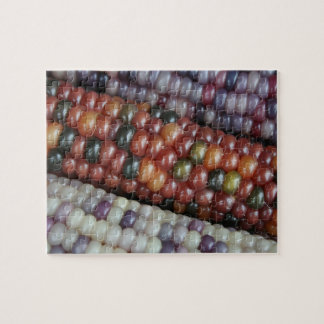 Colorful Glass Gem Corn on the  Cob Jigsaw Puzzle