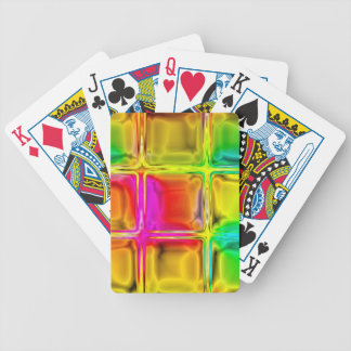 Colorful glass tiles poker deck