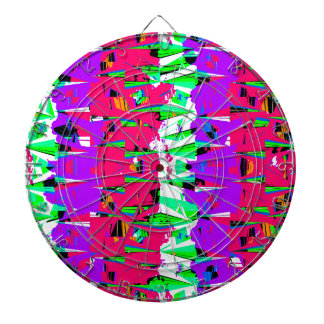 Colorful Glitch Pattern Design Dartboard
