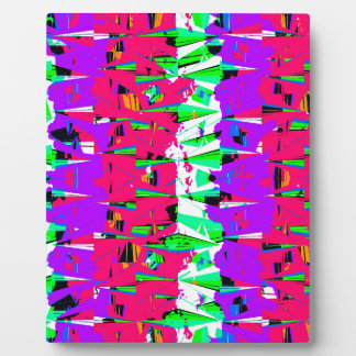 Colorful Glitch Pattern Design Plaque