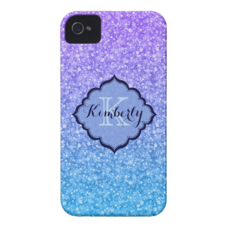Colorful Glitter And Sparkles Pattern iPhone 4 Case
