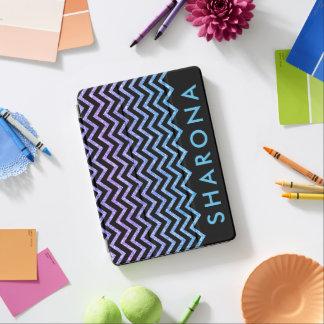 Colorful glitter chevron pattern iPad pro cover