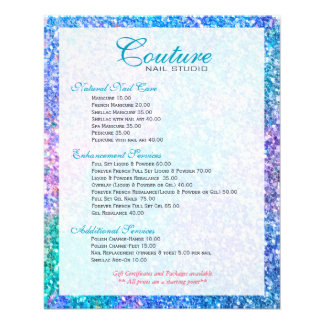 Colorful Glitter Glitter Menu List