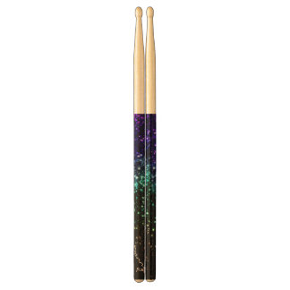 Colorful Glitter Look Personalized Drumsticks Drumsticks