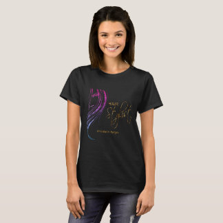 Colorful Glitter Model Girl Hair Stylist T-Shirt