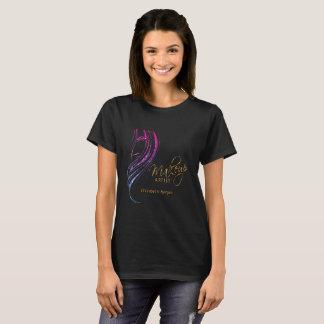 Colorful Glitter Model Girl Make up Artist T-Shirt