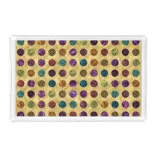 Colorful Glitter Polka Dots Gold