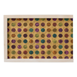 Colorful Glitter Polka Dots Gold