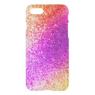 Colorful Glitter Sparkles - Red Pink Purple Gold iPhone 7 Case