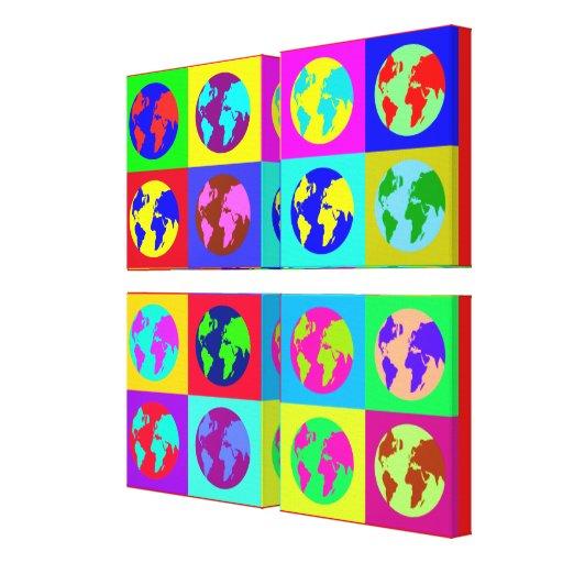 Colorful Globes Canvas Prints