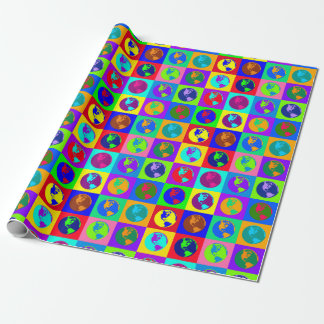 Colorful Globes Wrapping Paper