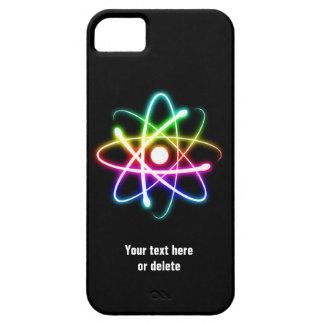 Colorful Glow Atom Symbol iPhone 6 case Barely There iPhone 5 Case