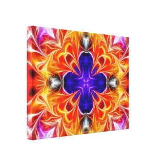 Colorful Glowing Abstract Gallery Wrapped Canvas