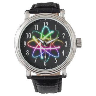 Colorful Glowing Atom | Geek Watch