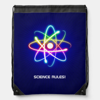 Colorful Glowing Atom Symbol Backpack