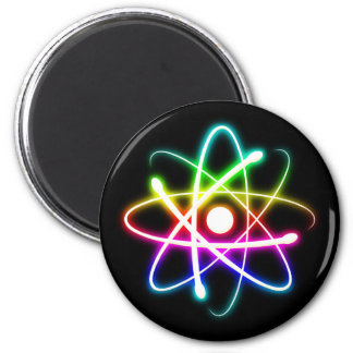 Colorful Glowing Atomics Science 6 Cm Round Magnet