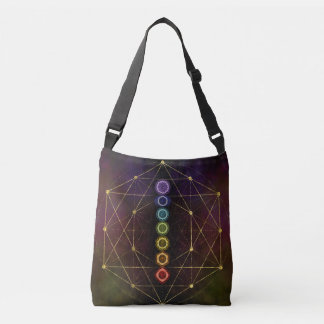 Colorful Glowing  Chakras Crossbody Bag