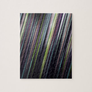 Colorful Glowing Stripes Jigsaw Puzzle