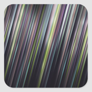 Colorful Glowing Stripes Square Sticker
