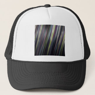 Colorful Glowing Stripes Trucker Hat