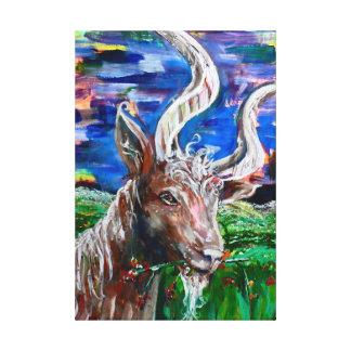 Colorful Goat kind print