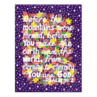 Colorful God Typography Bible Verse Postcard
