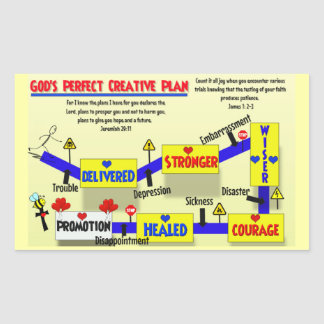 Colorful God's Plan Stickers