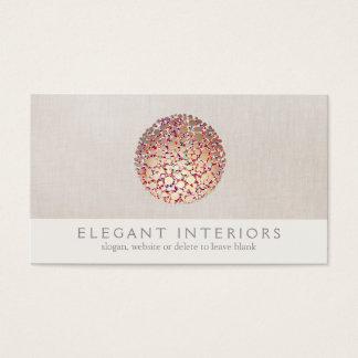 Colorful Gold  Circles Sphere Interior Designer