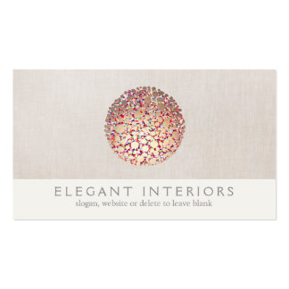 Colorful Gold  Circles Sphere Interior Designer Pack Of Standard Business Cards
