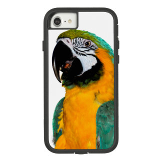 colorful gold teal macaw parrot bird portrait Case-Mate tough extreme iPhone 8/7 case