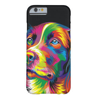 Colorful golden retriever barely there iPhone 6 case