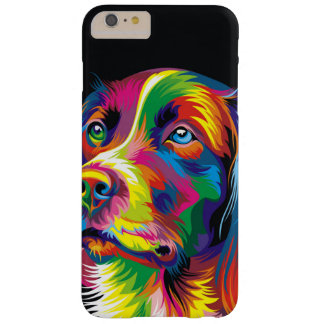 Colorful golden retriever barely there iPhone 6 plus case