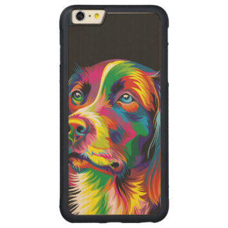 Colorful golden retriever carved® maple iPhone 6 plus bumper case