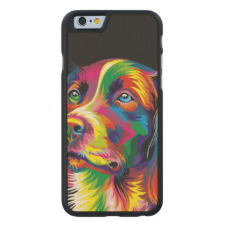Colorful golden retriever carved® maple iPhone 6 slim case