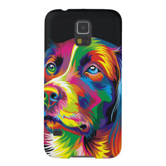 Colorful golden retriever cases for galaxy s5