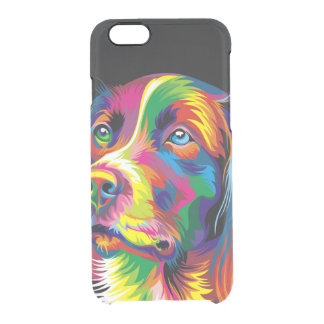 Colorful golden retriever clear iPhone 6/6S case
