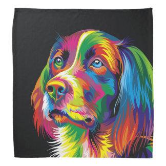 Colorful golden retriever kerchief