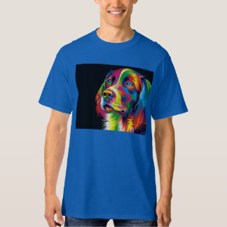 Colorful golden retriever T-Shirt