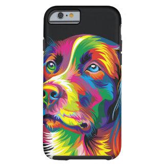 Colorful golden retriever tough iPhone 6 case