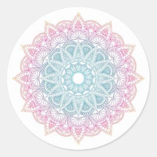 Colorful Gradient Mandala Sticker