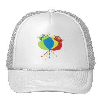 Colorful Graduation Hats Balloons