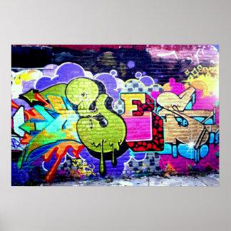 Colorful Graffiti Art Poster