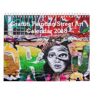 Colorful Graffiti Painting Street Art 2018 Calendars