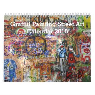 Colorful Graffiti Painting Street Art 2018 Wall Calendars