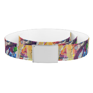 Colorful Graffiti Street Art Belt