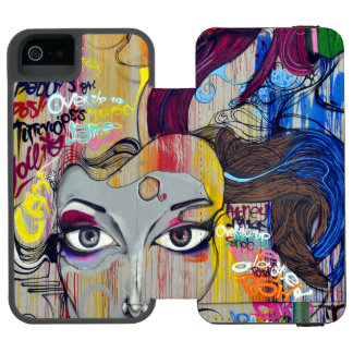Colorful Graffiti Street Art Incipio Watson™ iPhone 5 Wallet Case
