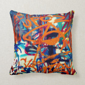 Colorful Grafitti Art Cushion