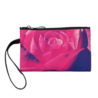 Colorful Grannys Rose Key Coin Clutch Coin Wallet